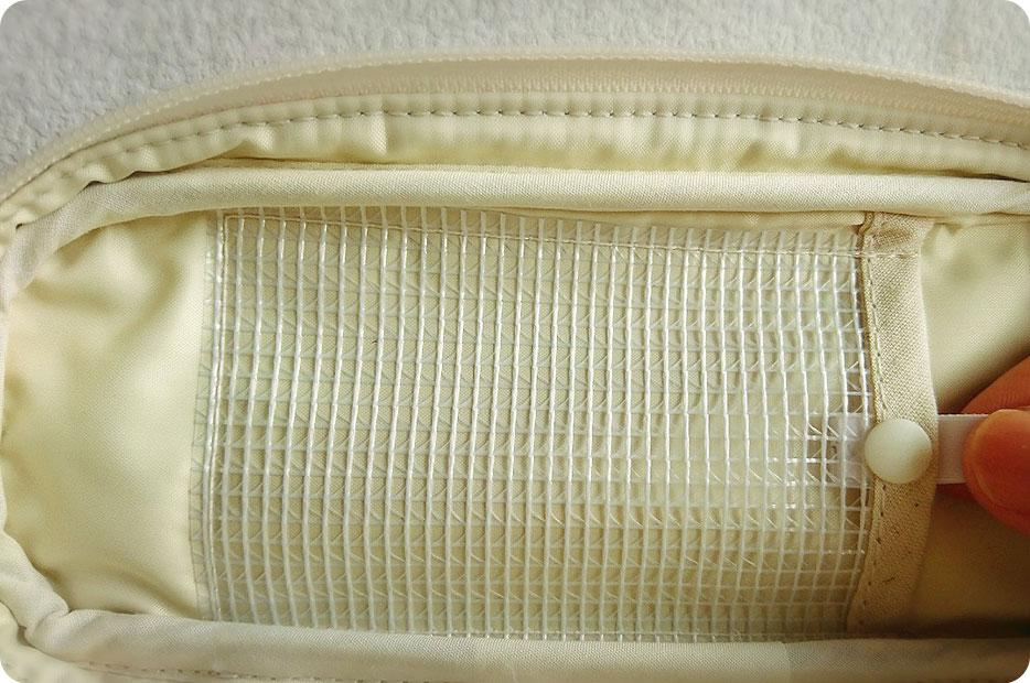 エピペン用ポーチ 蓋の裏側のポケット